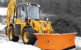 Уборка дорог от снега с помощью V отвала