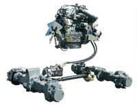 Гидростатическая трансмиссия экскаватора погрузчика
